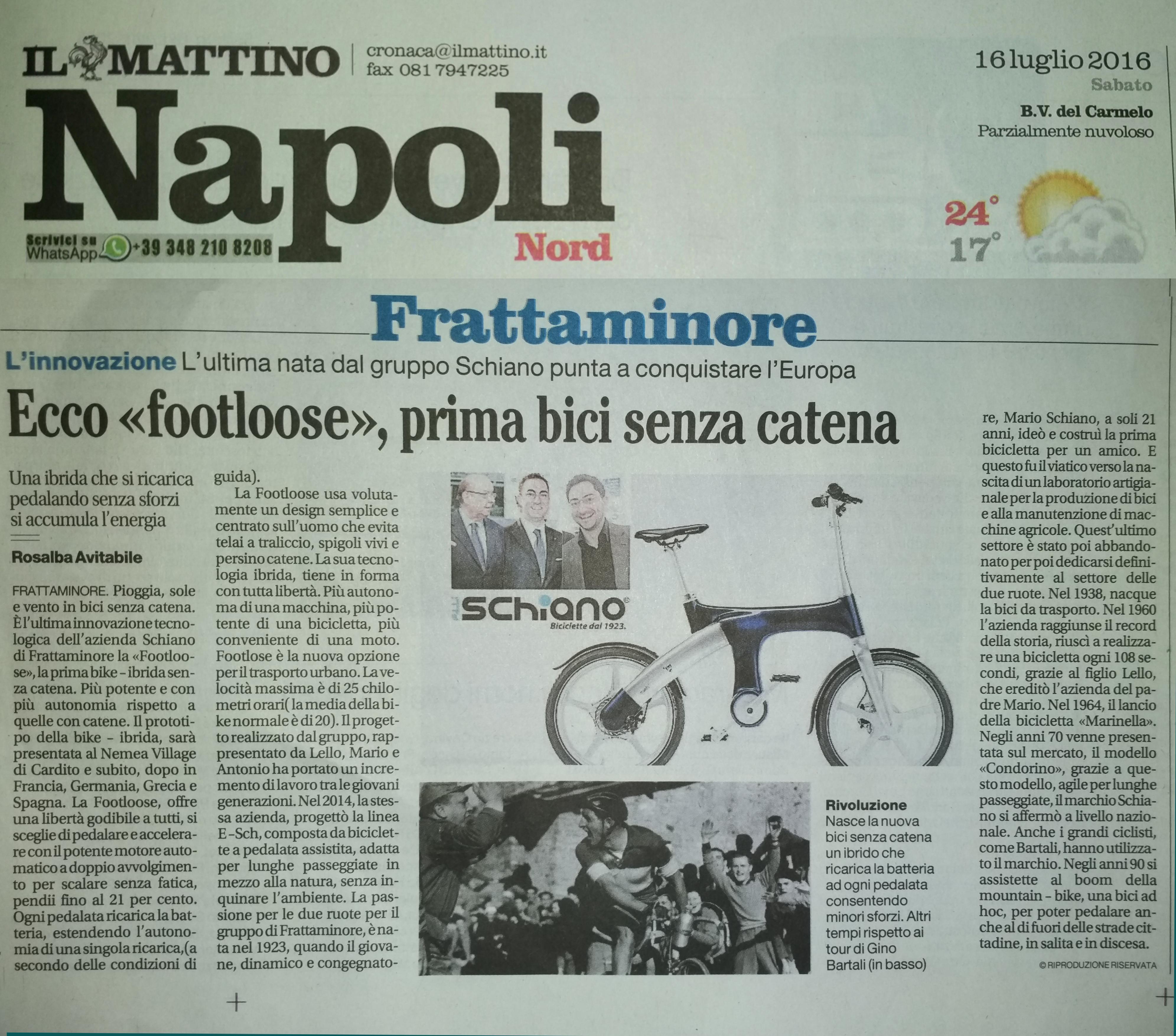 Articolo Del Mattino Di Napoli Sulle Nuove Attività Del Gruppo