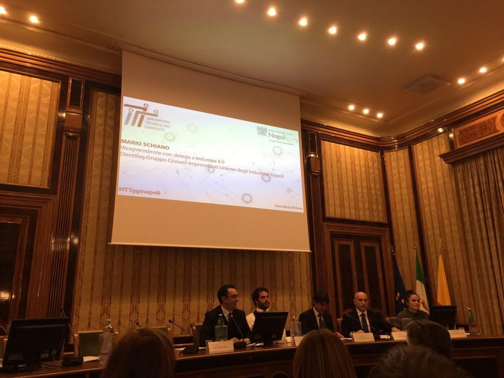 Trasferimento tecnologico e innovazione: intervento di Mario Schiano all'incontro dei Giovani Imprenditori dell'Unione industriali di Napoli su